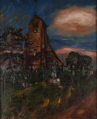 le cimetière de gros rouvres by henri le fauconnier