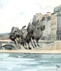 vue de l'ile saint-louis by robert yan
