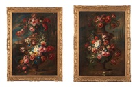 vases de fleurs en pendant by gaspar pieter verbruggen the younger