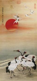 日出东方鹤戏图 by empress dowager cixi