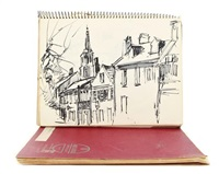 sketchbooks (2 books w/40 works) by virginia fouche bolton