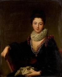 portrait de (madame le peletier des forts?) by jean-baptiste santerre