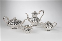tea and coffee set (4 pieces) by c.j. vander ltd