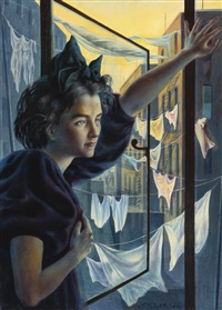 woman at the window by pavel tchelitchew