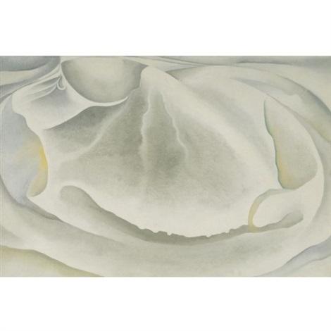 inside clam shell by georgia okeeffe