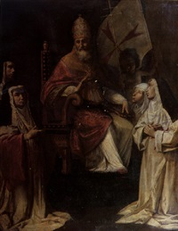 pope clement viii blessing carmelite nuns by fabrizio santafede