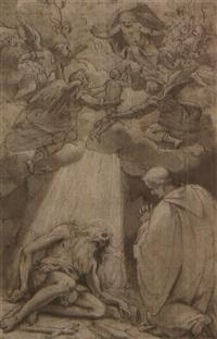 l'incontro di pafnuzio e sant'onofrio by giovanni battista paggi