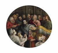 christ blessing the children by frans floris the elder