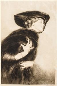 woman in fur by etienne drian