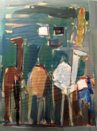 camels by pinchas litvinovsky