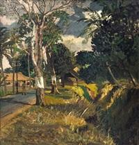 jalan di muka rumah kami (the road in front of our house) by s. sudjojono