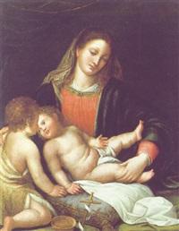 madonna mit kind by romanino (girolamo romani)