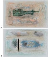 untitled (3 works) by prabhakar barwe