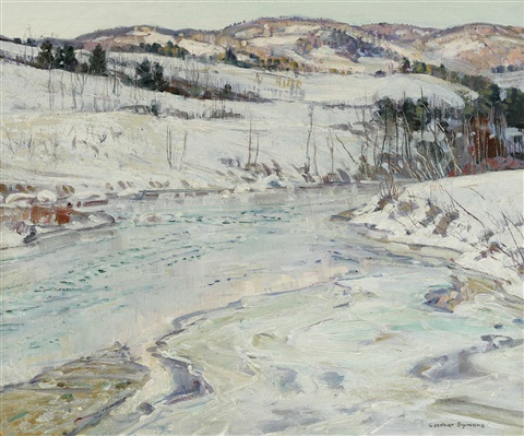 frozen river by george gardner symons