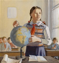 geography lesson (design for poster) by olga eiges