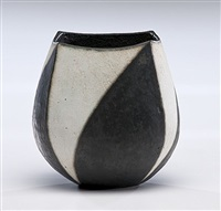 black and white vase by john ward