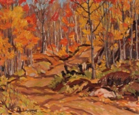 autumn colors by randolph stanley hewton