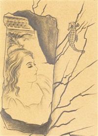 female face (hlava dívky) by toyen (maria cerminova)