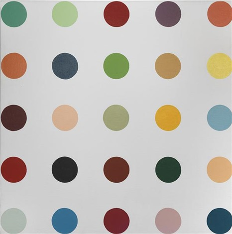 untitled 2 (spot painting) by damien hirst
