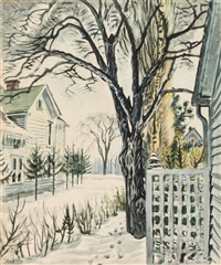 basswood tree in winter by charles ephraim burchfield