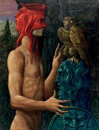ritratto dell'artista col suo demone by alberto abate