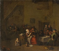 smokers in a tavern by egbert van heemskerck the elder