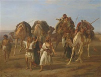 the arrival of the caravan by william j. (webbe) webb