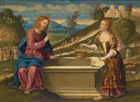 christ and the woman of samaria by girolamo da santacroce