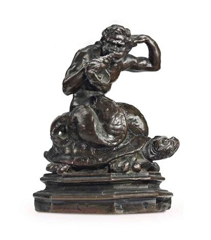 model of a triton riding a tortoise by gian lorenzo bernini