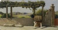 il pergolato della casa di diego martelli a castiglioncello by giuseppe abbati
