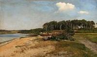 fjord scene from denmark by janus andreas barthotin la cour