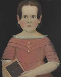 portrait of a young girl with book by william matthew prior