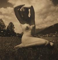 nude in the meadow by rudolf koppitz