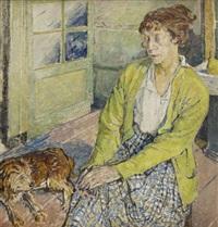 kobieta z psem (portret edith sealy?) by maria-mela muter