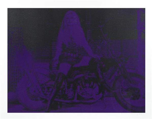 bridgette bardot purple by russell young