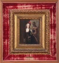 la femme et harlequin by jean antoine watteau