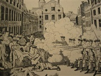 the bloody massacre perpetrated in king street, boston, on march 5th, 1770 (2 impressions) by paul revere