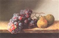 stilleben mit trauben und birnen by christine marie loevmand