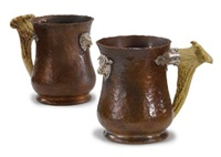 bull and bear tankards (pair) by joseph heinrich