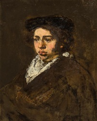 portrait of a young man by rembrandt van rijn