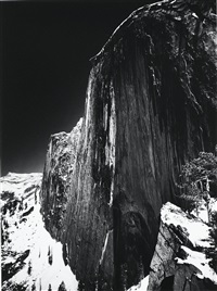 monolith, the face of half dome, yosemite national park, ca by ansel adams