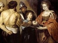 salomé remettant la tête de saint jean baptiste by christian van couwenbergh