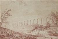vue de l'aqueduc de maintenon by hubert robert