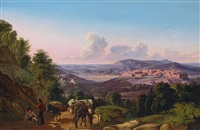 panoramic view with orvieto by johann joachim faber