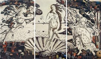 the birth of venus, after botticelli (from pictures of junk) by vik muniz