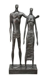maquette for figure group by lyndon raymond dadswell