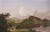 home by the lake (scene in the catskill mountains) by frederic edwin church