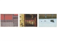 view of kyoto (portfolio of 12) by shinkichi (kaii) higashiyama