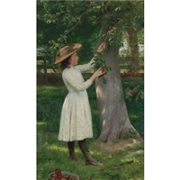 the pick of the orchard (picking apples) by seymour joseph guy
