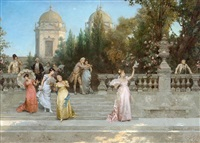 departure of the guests by francesco beda